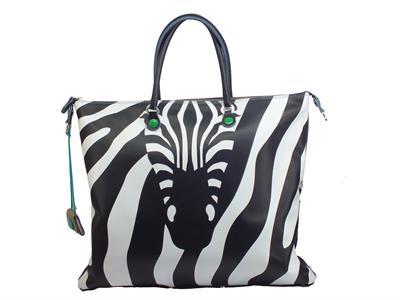 Articolo Gabs Animals G000030T3 G3 L Pegaso Jeans Zebra Borsa con manici e tracollina Donna