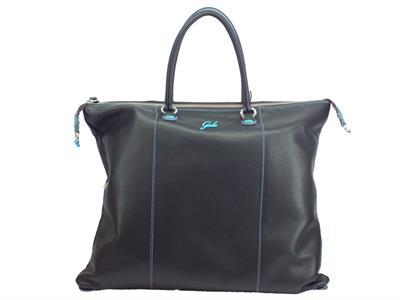 Articolo Gabs Basic G3 Plus L Ruga Nero borsa con manici e tracollina in pelle