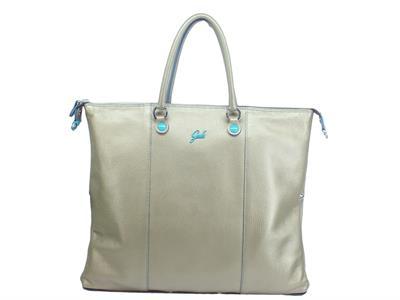 Articolo Gabs Basic G3 Plus L Ruga Platino borsa con manici e tracollina in pelle