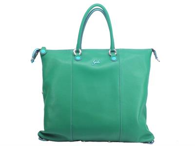 Articolo Gabs Basic G3 Plus L Ruga Smeraldo borsa con manici e tracollina in pelle verde