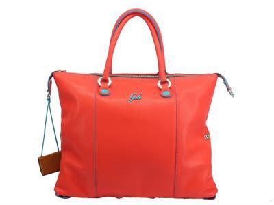 Articolo Gabs Basic G3 Plus M Ruga Corallo borsa con manici e tracollina in pelle