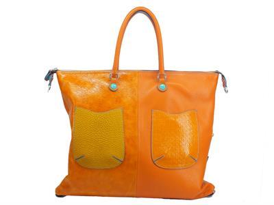 Articolo Gabs Basic L Momu Zucca borsa con monospalla e tracollina in pelle taglia large
