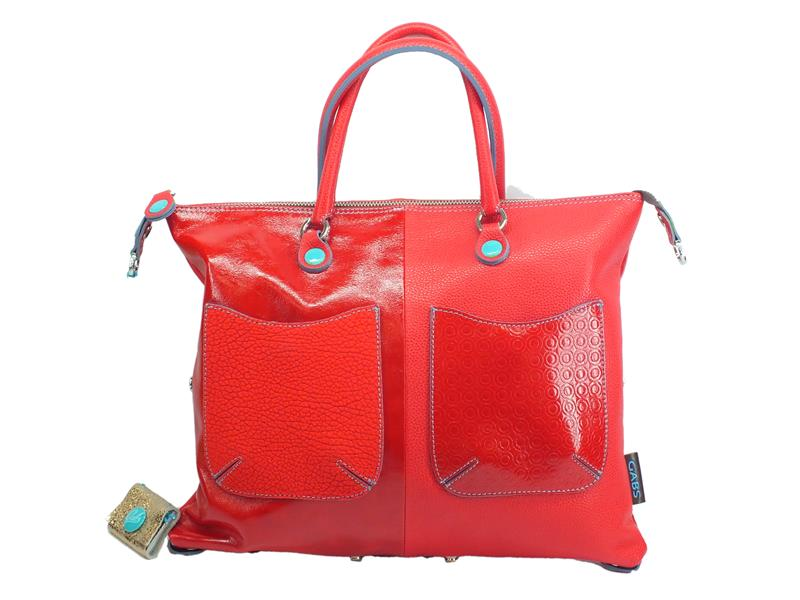 Gabs Basic M Momu Papavero borsa con manici e tracollina in pelle taglia medium