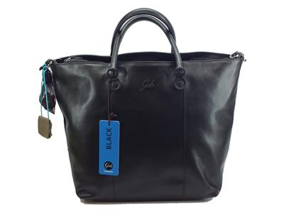 Articolo Gabs Black GShop M Black Escudo Nero borsa con manici e tracollina in pelle taglia medium