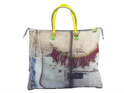 Articolo Gabs Trip G3 L Studio Print 390 Porta Cesenatico borsa manici tracollina ecopelle multicolore
