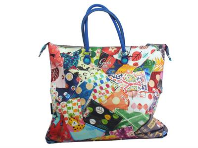 Articolo Gabs Trip G3 L Studio Print 393 Fantasie Tokyo borsa manici tracollina ecopelle multicolore