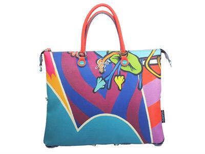 Articolo Gabs Trip G3 M Studio Print Street Art borsa con manici e tracollina in ecopelle multicolore
