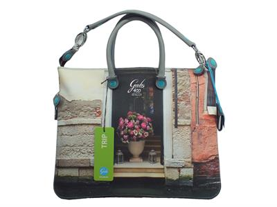 Articolo Gabs Trip Week M Studio Print Street Vela Canale borsa manici in ecopelle multicolore