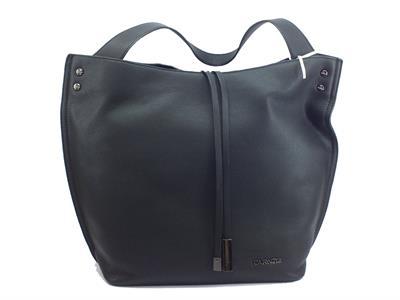 Articolo Borsa CafèNOIR modello shopping bag in ecopelle morbida colore nero con manico