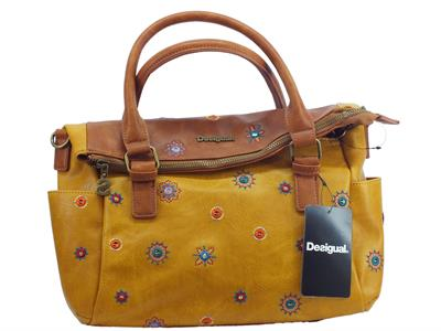 Articolo Borsa Desigual Julietta Loverty per donna in ecopelle multicolore marrone verde