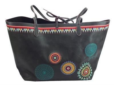 Articolo Borsa Desigual modello shopping bag Siara Capri per donna in ecopelle nera