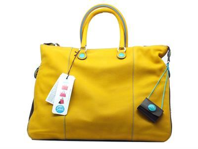 Articolo Borsa Gabs modello Shopping WEEK FRFR in pelle colore giallo trasformabile