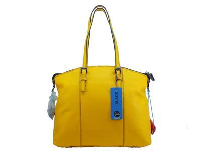 Borsa Gabs Shopping Trasformabile Amanda pelle pamellato giallo Medium