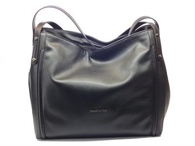 Articolo Borsa NeroGiardini modello shopping bag nera con manici