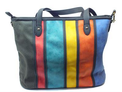 Borsa Shopping Bag Desigual Viena Calgary in ecopelle multicolore