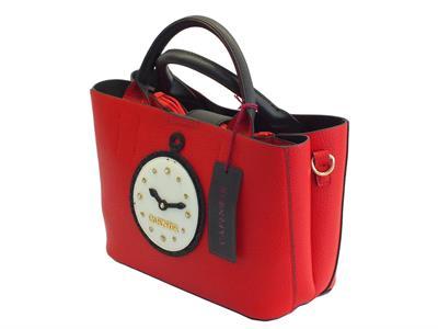 Articolo Borsetta con manici e tracollina CafèNoir rossa con orologio estetico