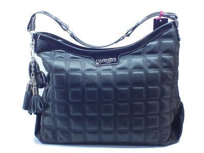 Articolo Shopping Bag CafèNoir in ecopelle trapuntata nera taglia grande con lampo