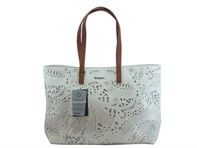 Articolo Shopping Bag Desigual Bols Hades Redmond in ecopelle laserata bianca