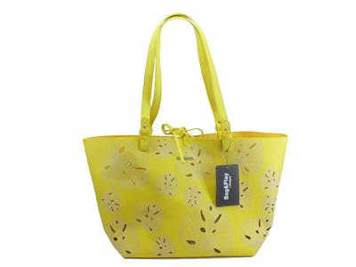 Articolo Shopping Bag & Play Desigual Attalea Capri in ecopelle traforata giallo