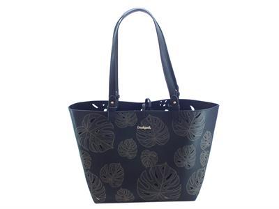 Articolo Shopping Bag & Play Desigual Attalea Capri in ecopelle traforata nera