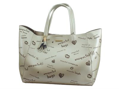 Articolo Shopping Bag & Play Desigual Tell Me Cuenca in ecopelle beige