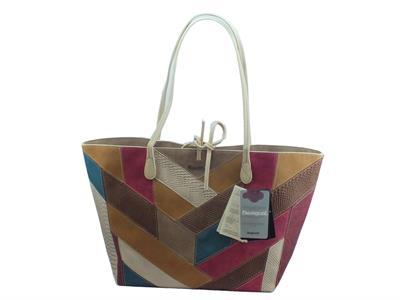 Articolo Shopping Bags Desigual Talia Capri in ecopelle multicolore con manici