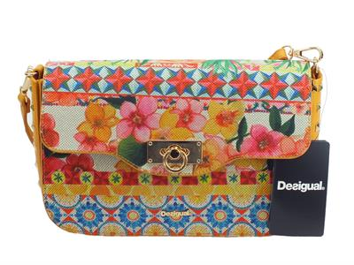 Tracollina con pattina Desigual Little Amorgos in tessuto multicolore