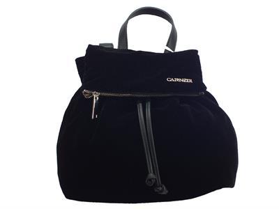 Articolo Zainetto CafèNOIR per donna in velluto colore nero