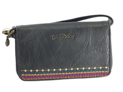 Articolo Desigual 20WAYP35 Astoria Mini Zip Portamonete per Donna ecopelle multicolore nero con lampo