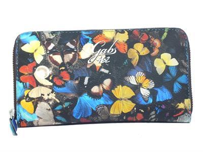 Gabs G000140ND X0783 S0464 Stampa Farfalle Portafogli per donna con doppia lampo