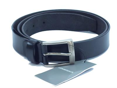Articolo Cintura per uomo Lumberjack modello casual in pelle nera fibia cromata