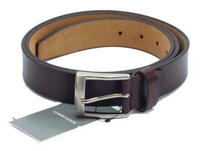 Cintura per uomo Lumberjack modello casual in pelle testa di moro fibia cromata